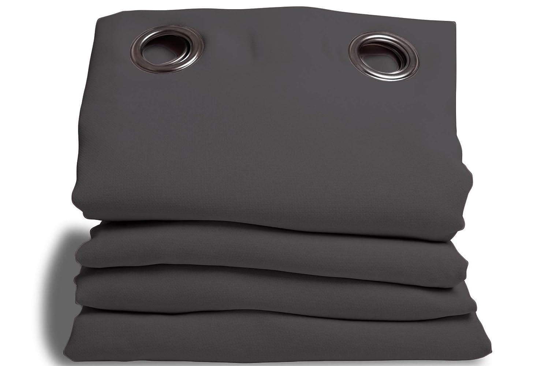 Homemaison Moondream HM6902047Moondream –Tenda oscurante/termica, cotone 145x 260cm, Cotone, Aubergine, 260x145 cm