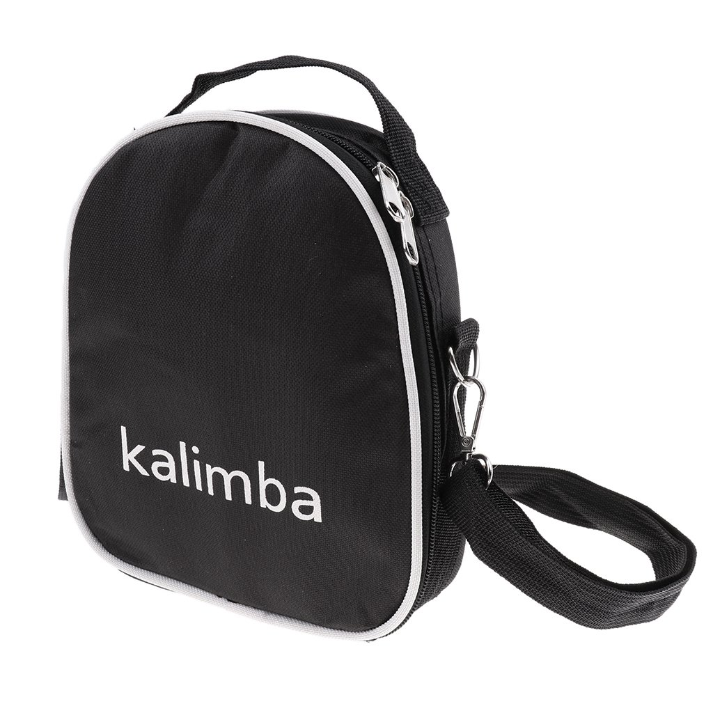 B Blesiya Thumb Finger Piano Storage Case Musical Instrument for Kalimba Lovers Black