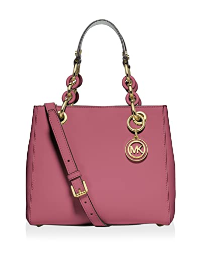 michael kors cynthia small leather satchel tulip bag handbags rh amazon com