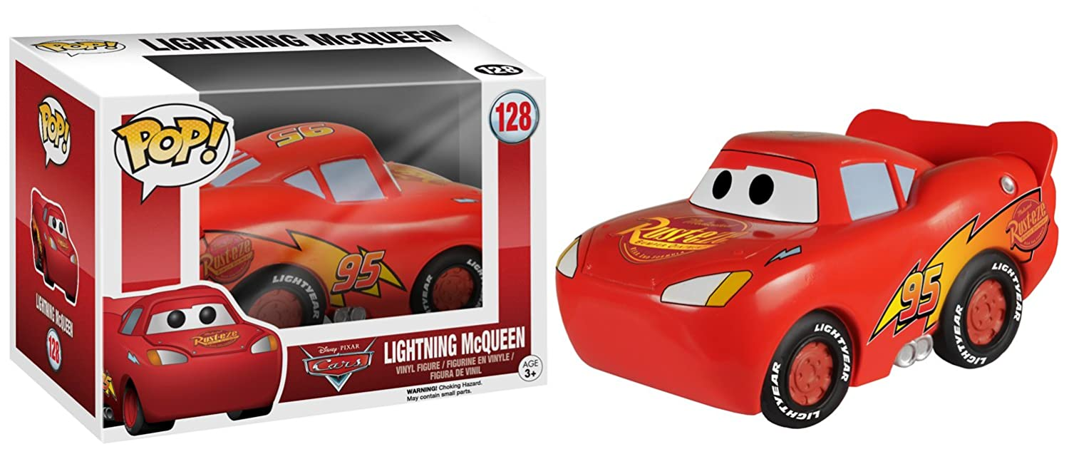 Amazon.com: Funko POP Disney: Cars McQueen Action Figure: Funko Pop ...