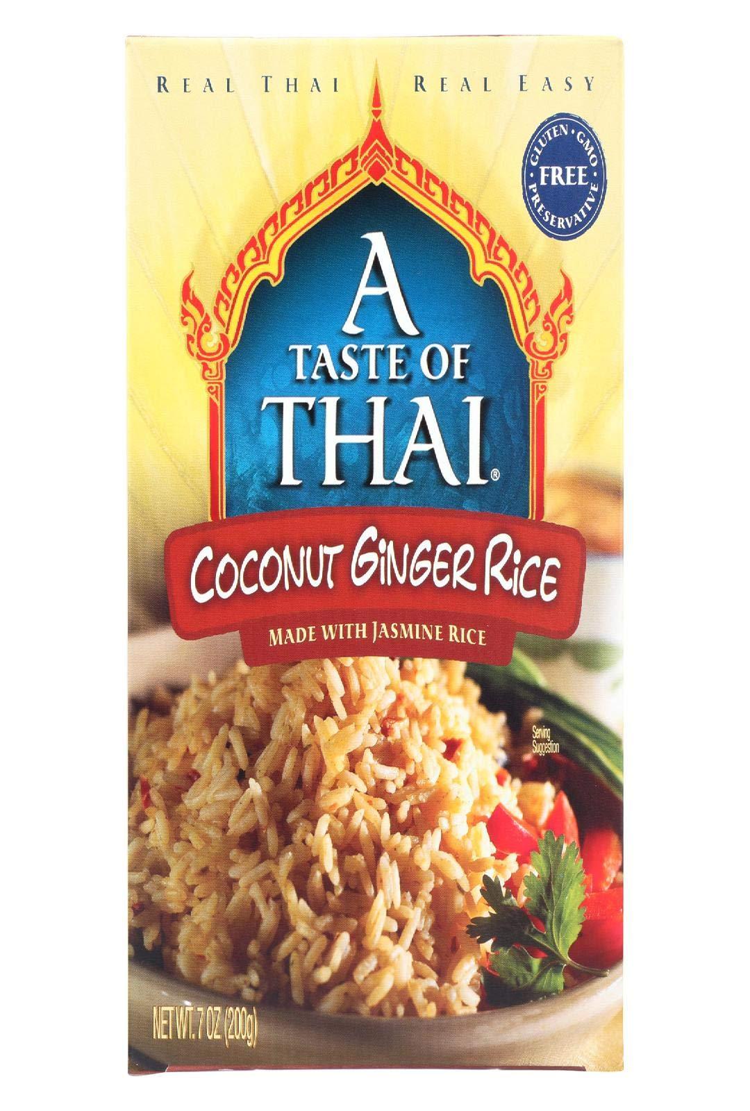 TASTE OF THAI RICE,COCONUT GINGER - 7 OZ - CS x6