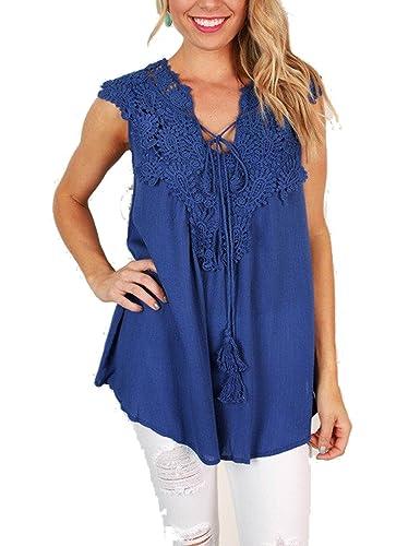 BMJL – Camisas – Básico – Sin mangas – para mujer