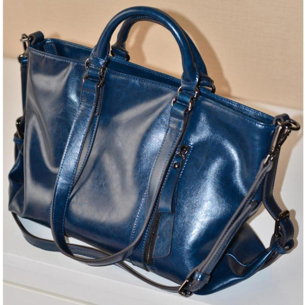 07f8d3c027 Amazon.com  Binmer(TM) Fashion Leather Bags Tote Leather Handbags Women  Messenger Bags Shoulder Bags (Blue)  Beauty