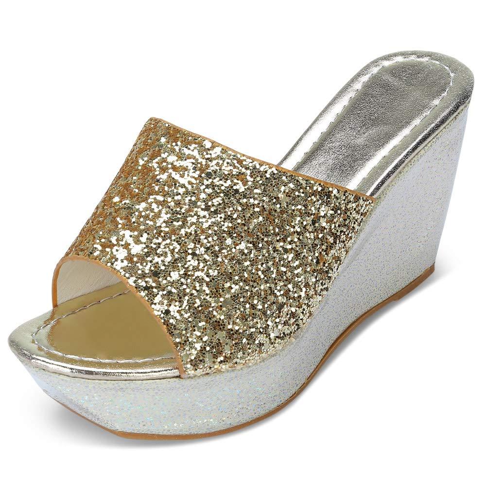 Rosegal Sandales été d été Femme Talons Pantoufles Été Chaussures de Chaussures Été Semelle Epaisse et Solide Or 019179e - therethere.space
