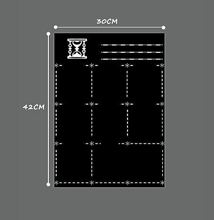 LOBZON Pizarra Blanca magnética para Nevera, Pizarra de borrado en seco y planificador de menús, Memo o Lista de Compras semanales, tamaño A3 Pizarra ...