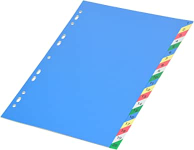 FIS Color PP Divider, (1-20) English, A4 Size - FSDV317