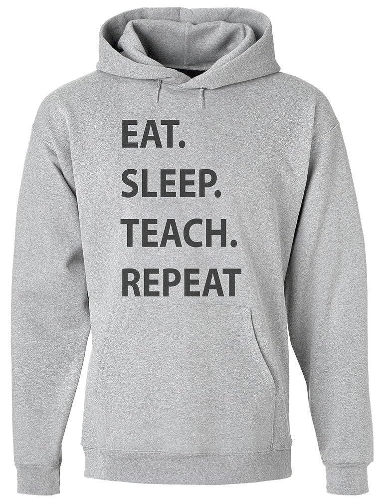 Mens Hoodie Pullover Sleep Repeat Teach IDcommerce Eat