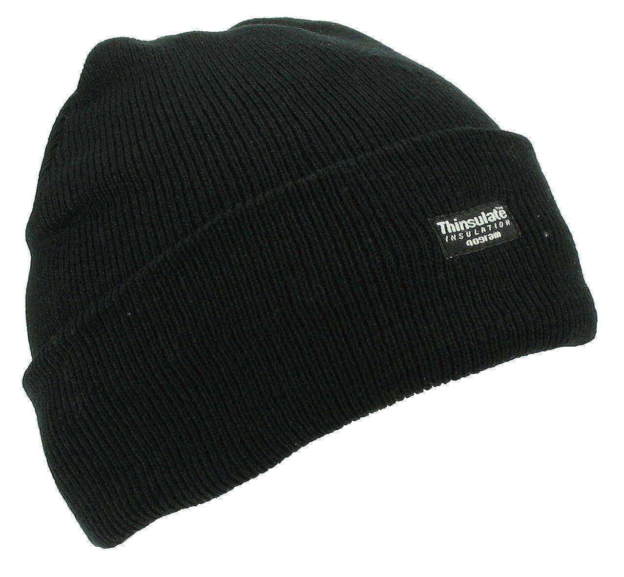 Thinsulate Knitted Hat - Black  Amazon.co.uk  Clothing 680f8c484ca