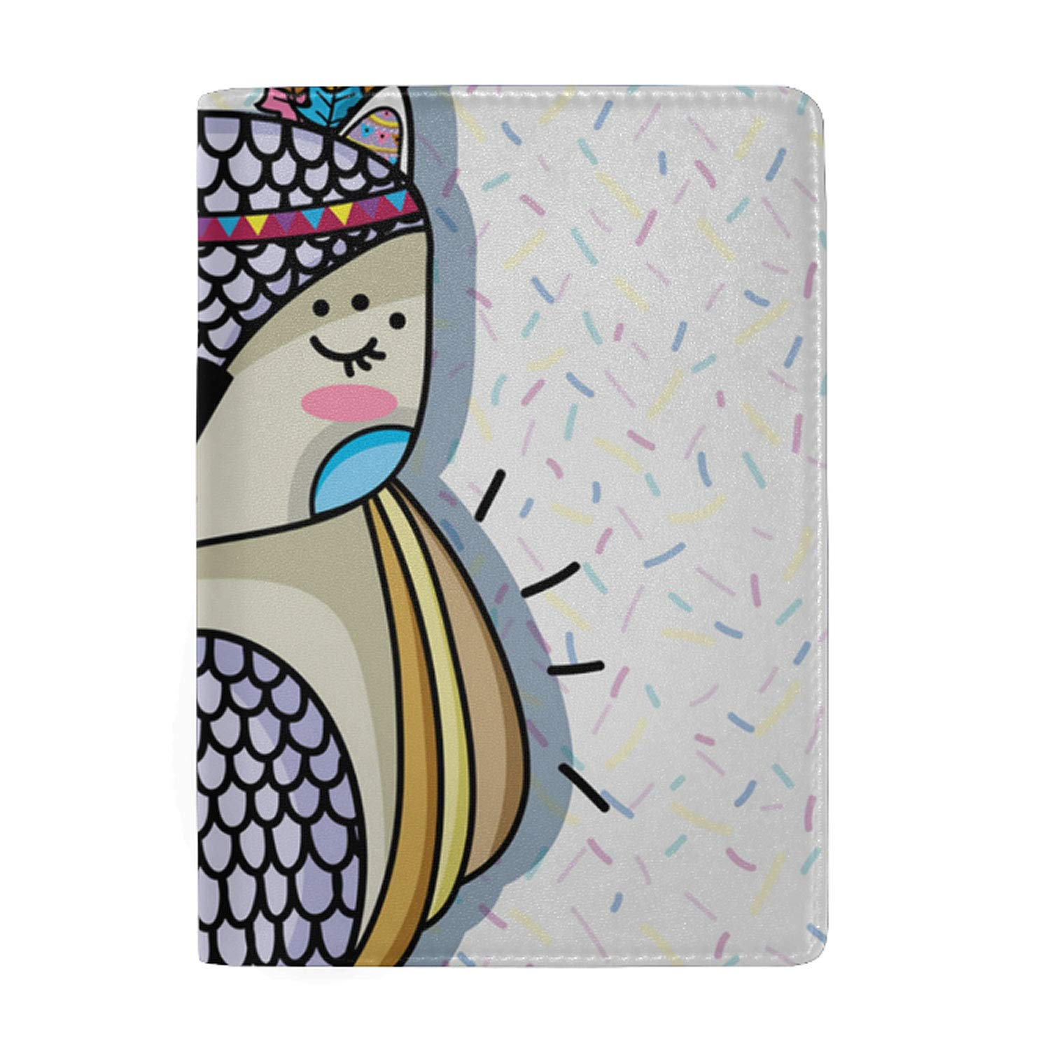 Cute Animals Passport Holder Cover Wallet RFID Blocking Leather Card Case Travel Document Organizer