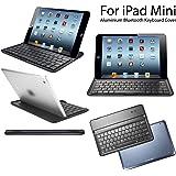 eLifeStore® iPad mini Ultra Slim Keyboard Cover Aluminium Bluetooth 3.0 Wireless Keyboard Cover Case Stand (Black)