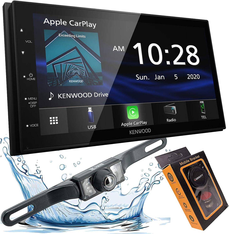 "Kenwood Mechless 6.8"" Digital Media Receiver, Apple CarPlay & Android Auto + Bar Backup Camera Included + Phone Magnet Holder Bundle"