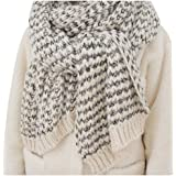 Chunky Cable Soft Mohair Knit Scarf Long Fluffy Wrap for Women Men in Winter FP02