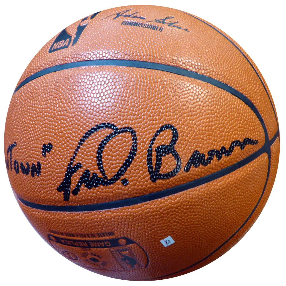 Downtown Fred Brown Signed Spalding I/O Basketball Seattle Sonics - Authentication Authentic Autograph - Basketball Collectible