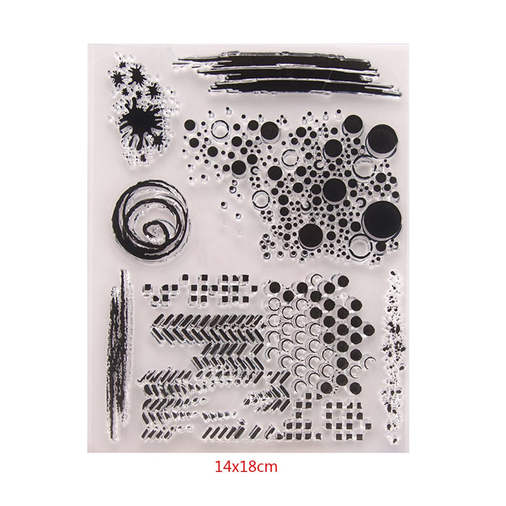 Kalttoy Foglio di Timbro di Silicone di Francobollo Trasparente per l Album di Carte Fai da Te Scrapbook t1336