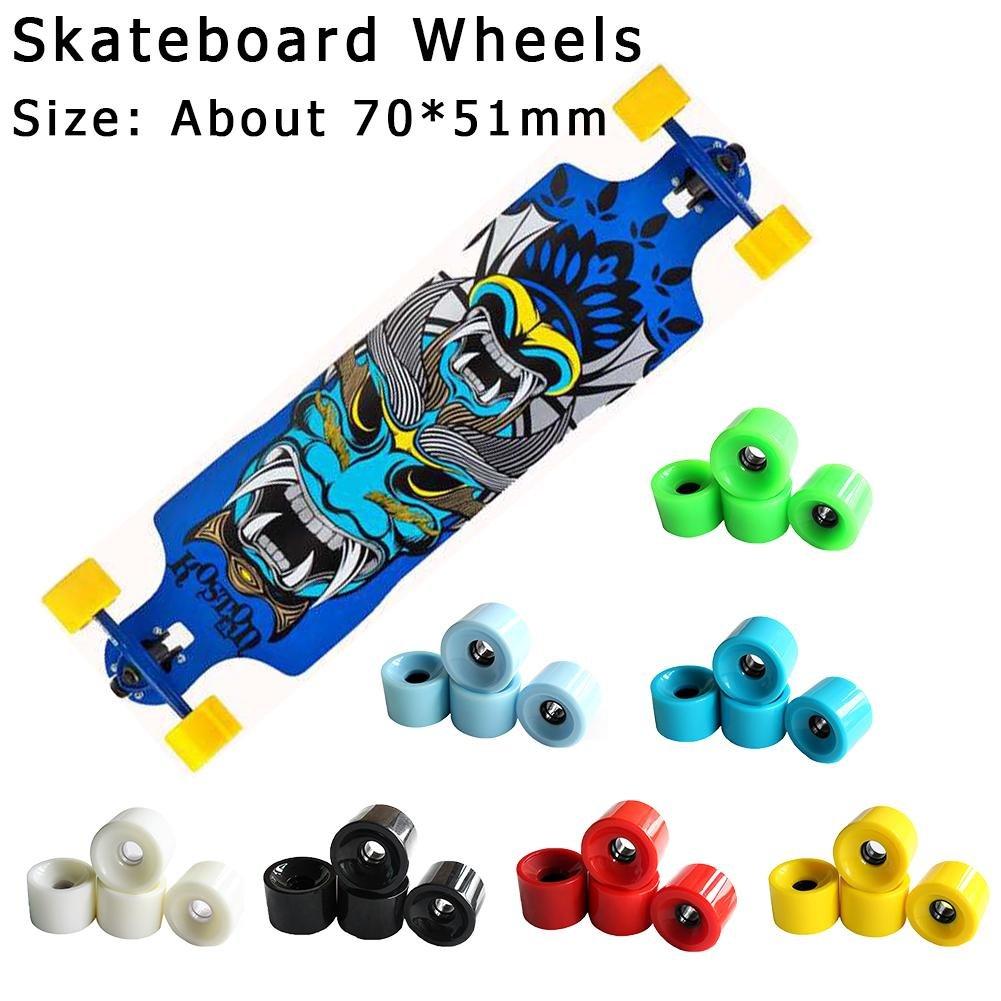 ... 4 pieza - Juego de ruedas de monopatín Longboard LongBoard Wheels - Ruedas para monopatín (70 x 50 mm Wheels, en muchos colores Blanco: Amazon.es: Bebé