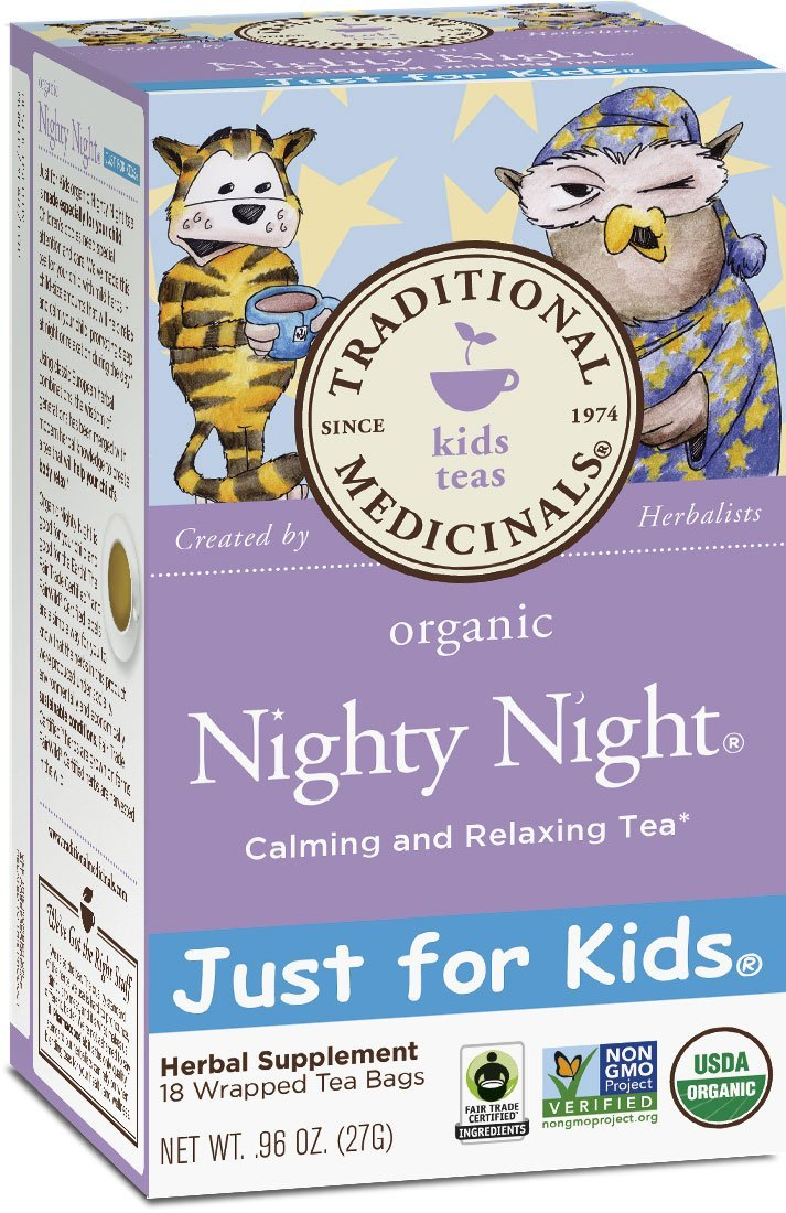 Traditional Medicinals Just for Kids Organic Nighty Night Tea, 18 Tea Bags (Pack of 6)