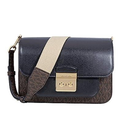5d5c48306fce Michael Kors Sloan Editor Large Shoulder Bag - Brown/Black: Handbags ...