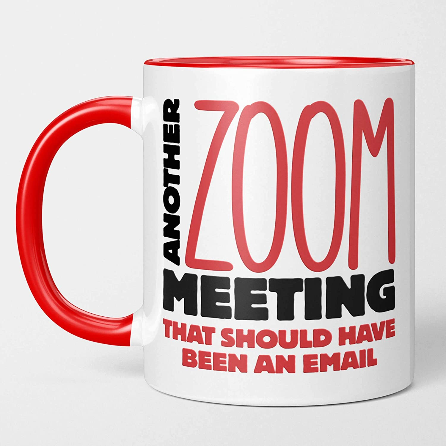 Watermelonheads Another Zoom Meeting That Should Have Been an Email, 11oz Funny Coffee Mug, Tea Cup With Sayings, Quarantine Survivor Gift for Home Office Remote Workers Husband Wife Coworkers