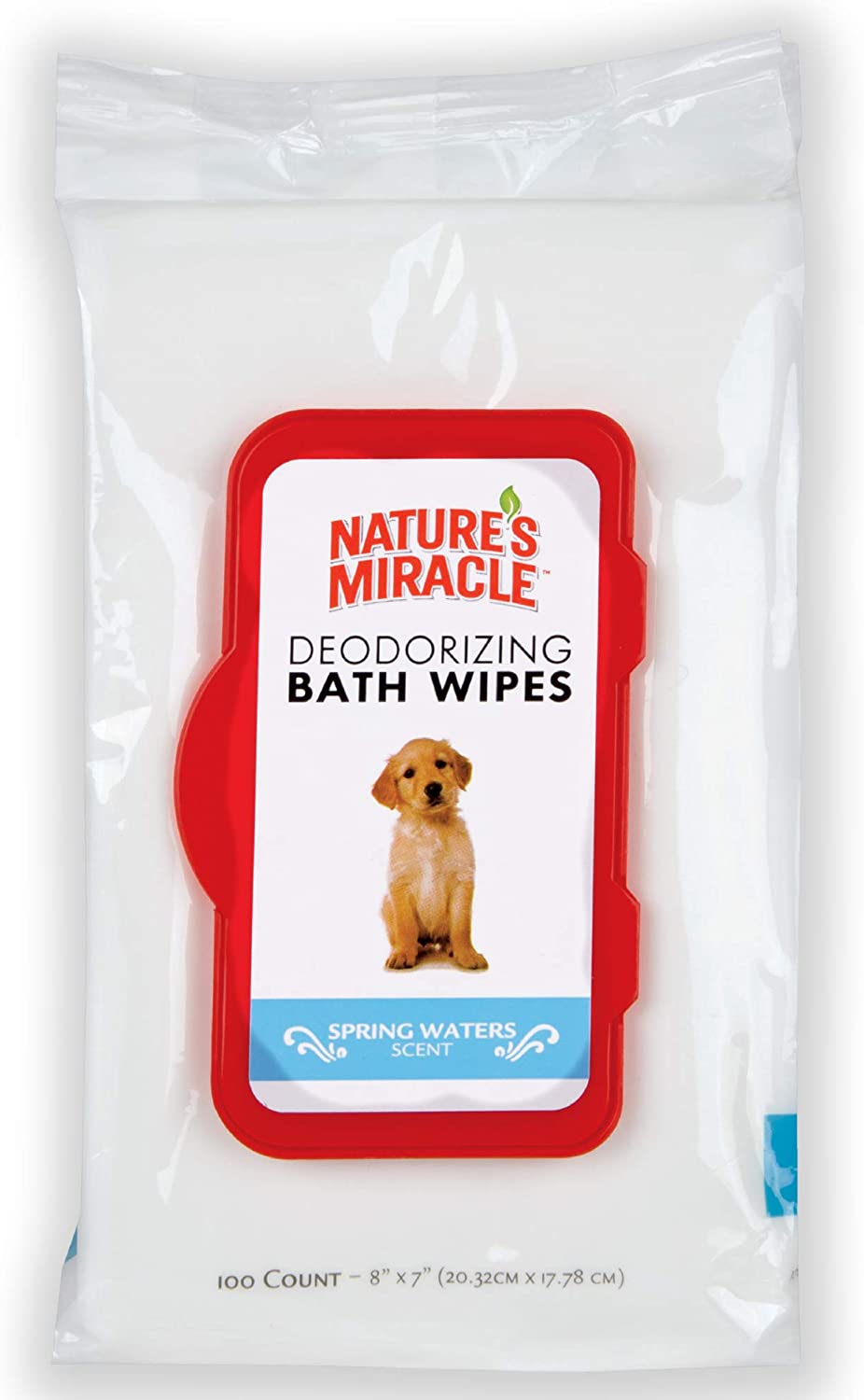 100-Count Nature's Miracle Deodorizing Bath Wipes for Dogs