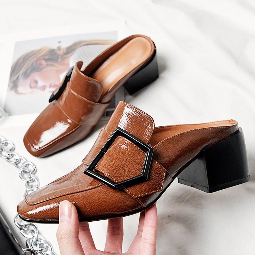 XUE Damenschuhe Leder Sommer Komfort Sandalen/Hausschuhe  Flip-Flops Atmungsaktive Wanderschuhe Keilabsatz aushouml;hlen Mode Schuhe Party  Abend  Karriere Kleid (Farbe : C, Grouml;szlig;e : 37)  37|C