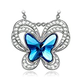 "Amazon Price History for:KATE LYNN ""Butterfly Fairy"" Made with Denim Blue Swarovski Crystal Pendant Necklace-The Garden of Eden"