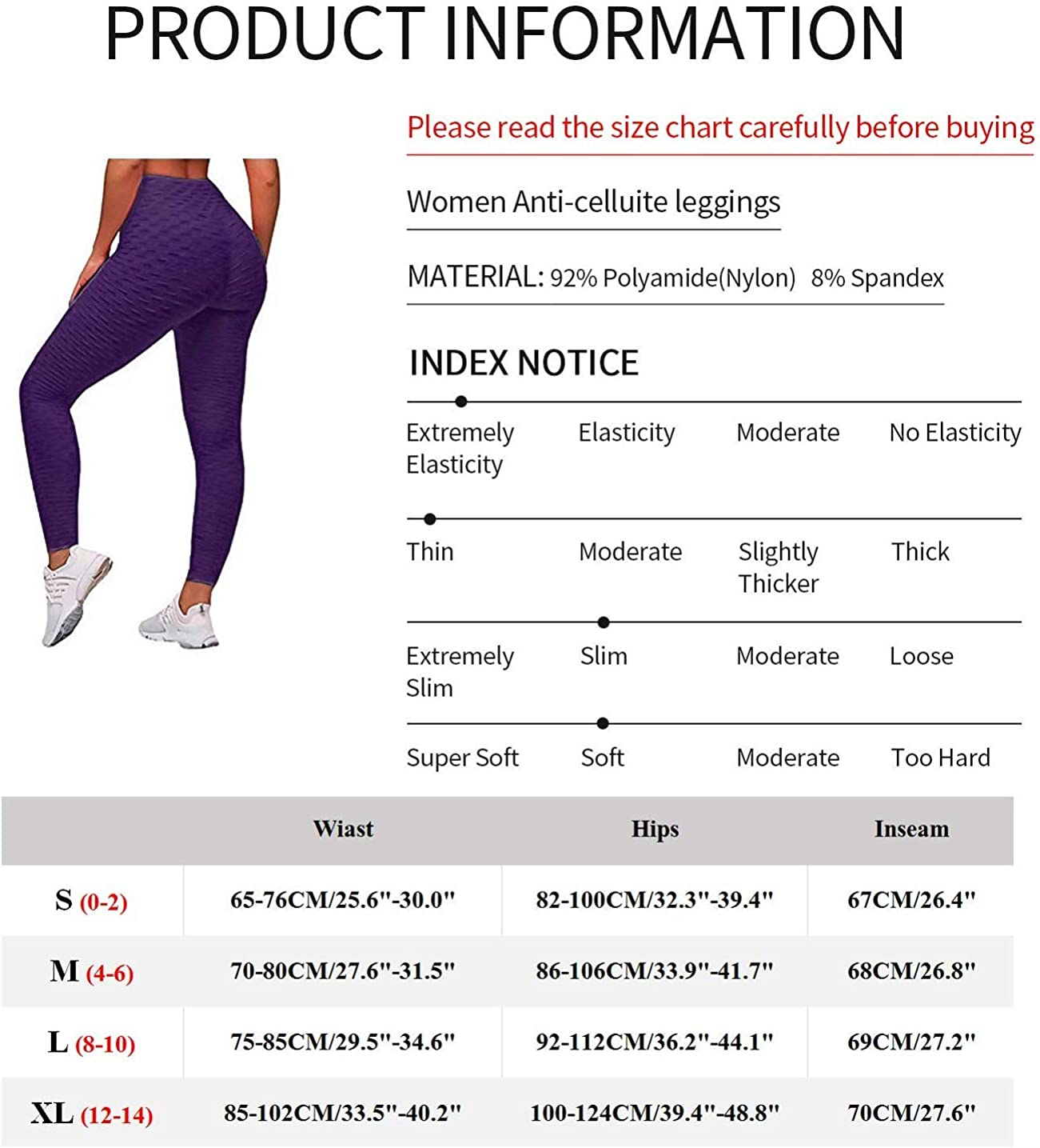 YASION Booty Yoga Pants Women Anti Cellulite Scrunch Ruched Butt Lifting Workout Leggings Textured Slimming Tights