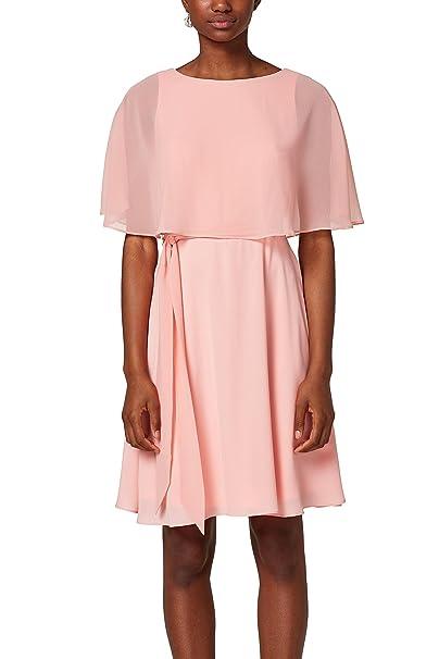 ESPRIT Collection 028eo1e032, Vestido de Fiesta para Mujer, Rosa (Light Pink 690), 38 (Talla del fabricante: 36) amazon el-rosa Fiesta