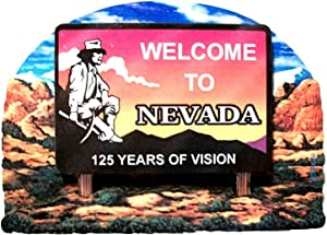Nevada State Welcome Sign Wood Fridge Magnet 2
