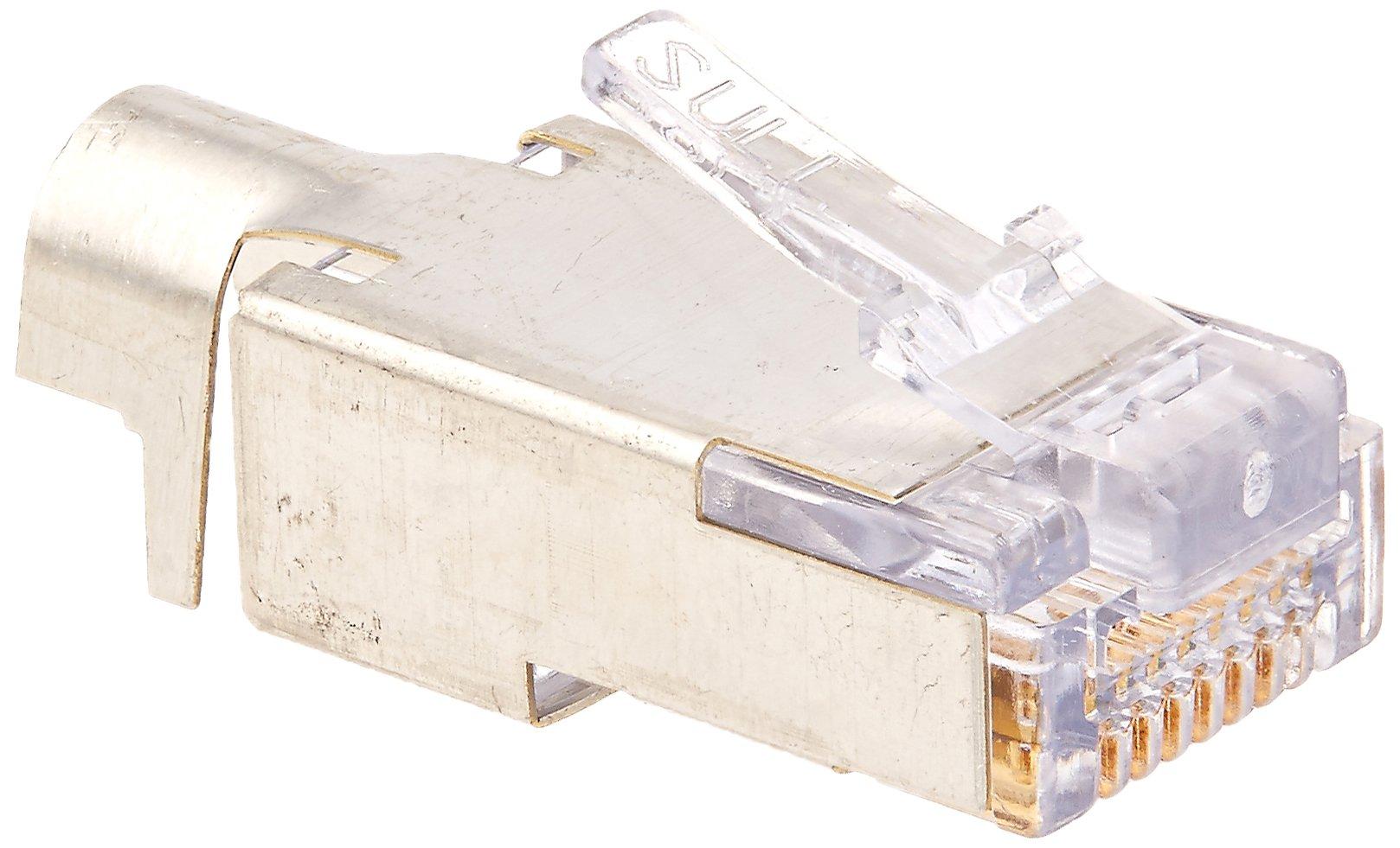 Platinum Tools 100022 EZ-RJ45 Shielded Cat5e/6 External Ground, 50-Pack