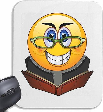 Mousepad alfombrilla de ratón SMILEY con gafas LEER EL LIBRO ...
