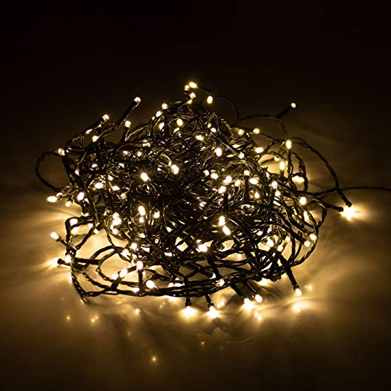 LED Lichterkette 18m RGB Lichter Kette Beleuchtung Weihnachten Deko Party 8 Modi