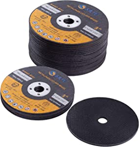 "SATC 25 PCS 3 Inch Cut Off Wheels 3""x1/16""x3/8"" Cutting Wheel Die Grinder Cut Off Blades Fits Angle Grinder Air Tool"