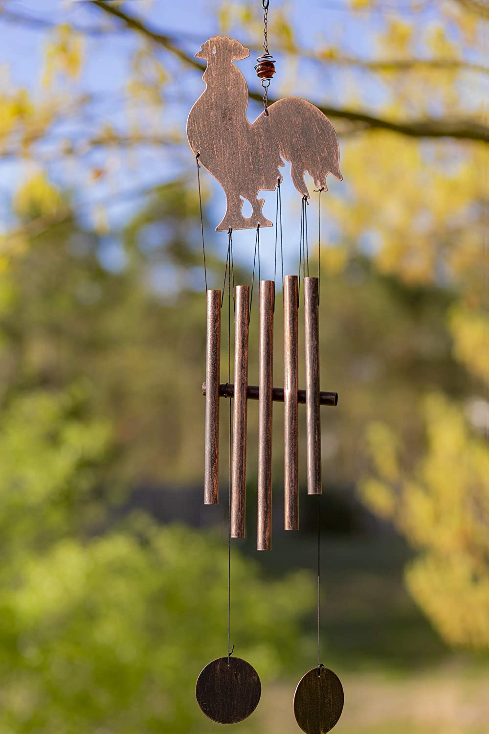 VP Home Rustic Rooster Outdoor Garden Decor Wind Chime