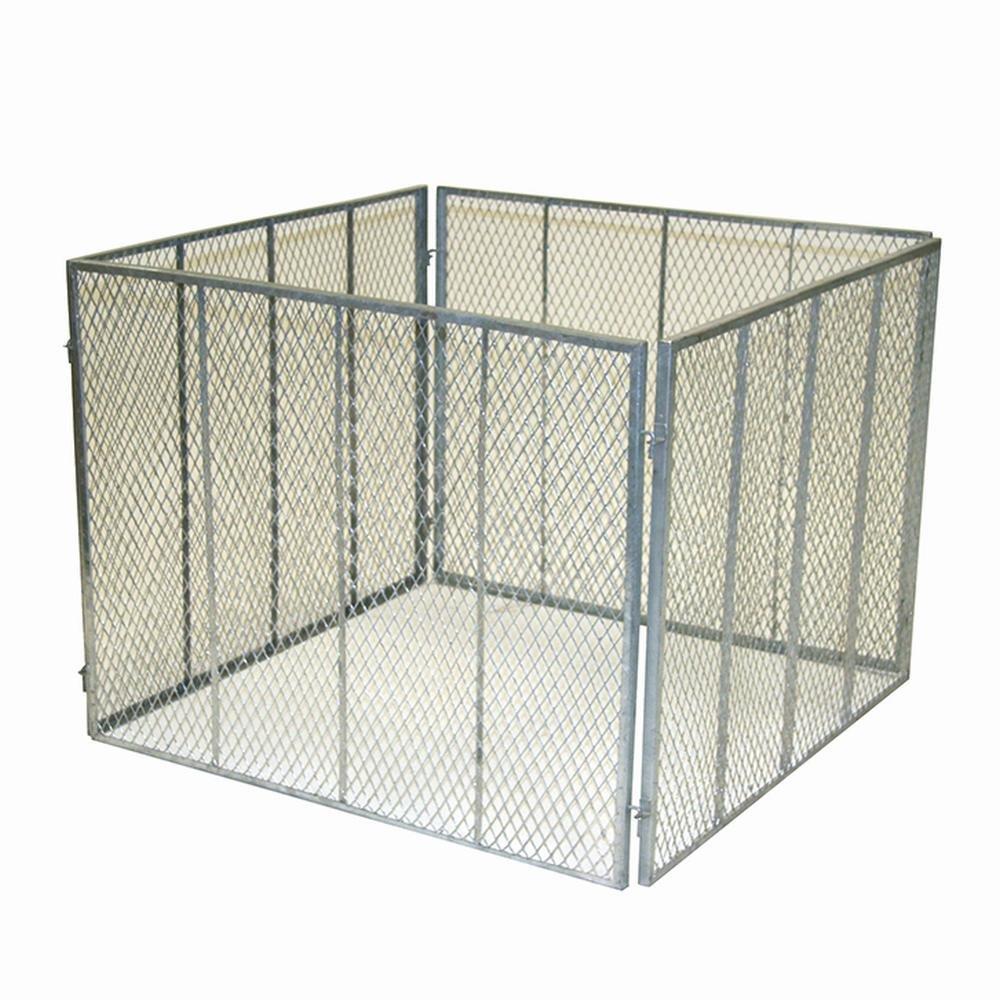 greemotion 360052 - Compostiera in metallo espanso, misure: 100 x 100 x 80 cm