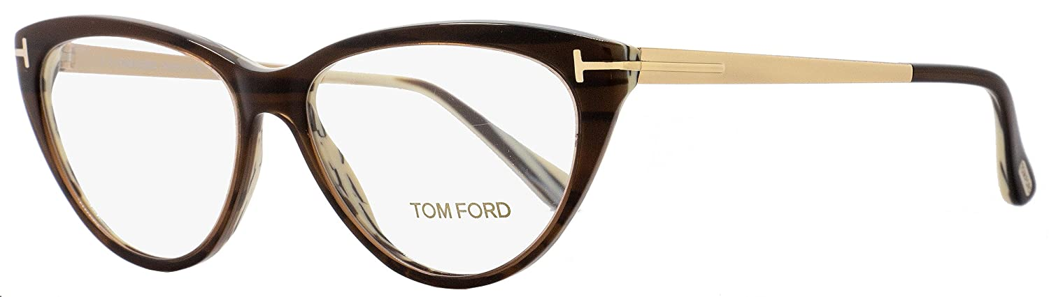 315ea8d932c6 Amazon.com  Tom Ford Cateye Eyeglasses TF5354 001 Size  53mm Black Gold  FT5354  Clothing