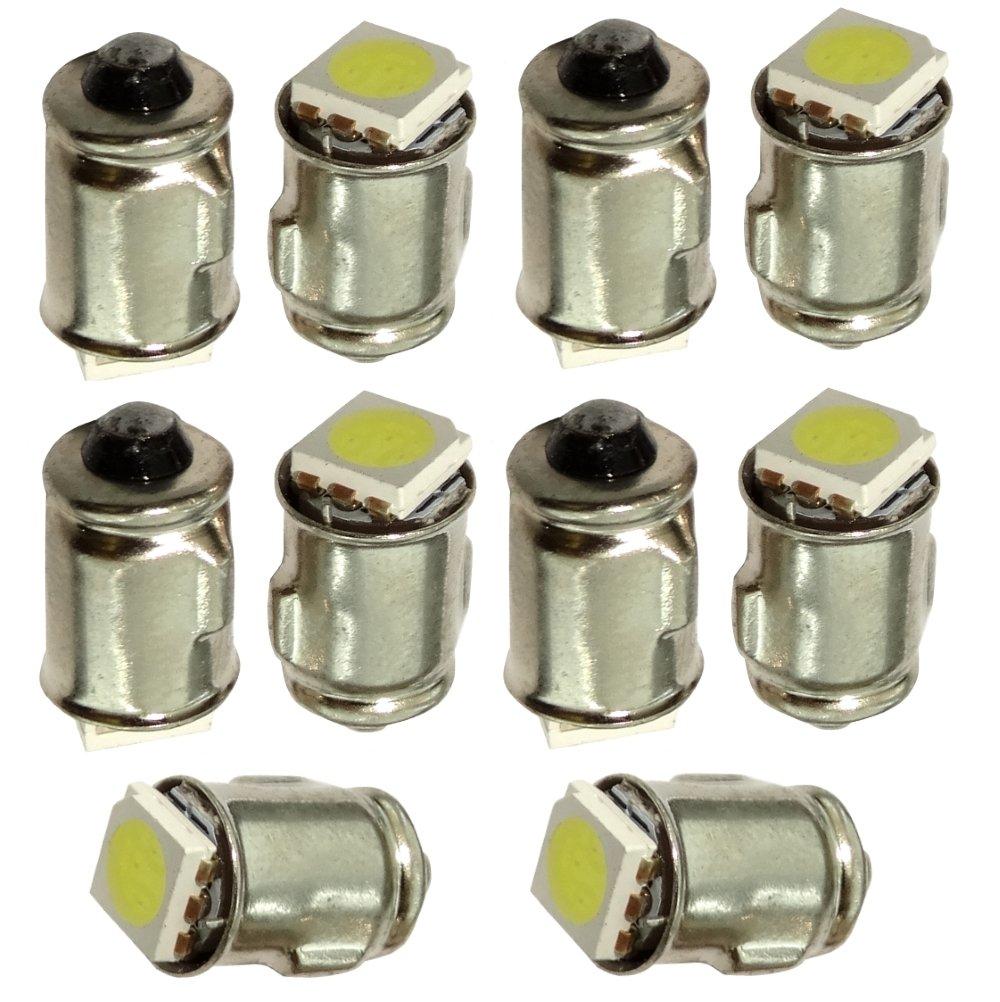 10x ampoules T6.5 BA7S 12V 3W