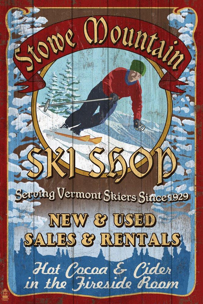 【国内即発送】 Stowe山、バーモント州 Art – Ski Shop Signed Vintage Sign 24 x x 36 Giclee Print LANT-40632-24x36 B07B27ZTKP 24 x 36 Signed Art Print 24 x 36 Signed Art Print, リシリフジチョウ:9716e637 --- 4x4.lt