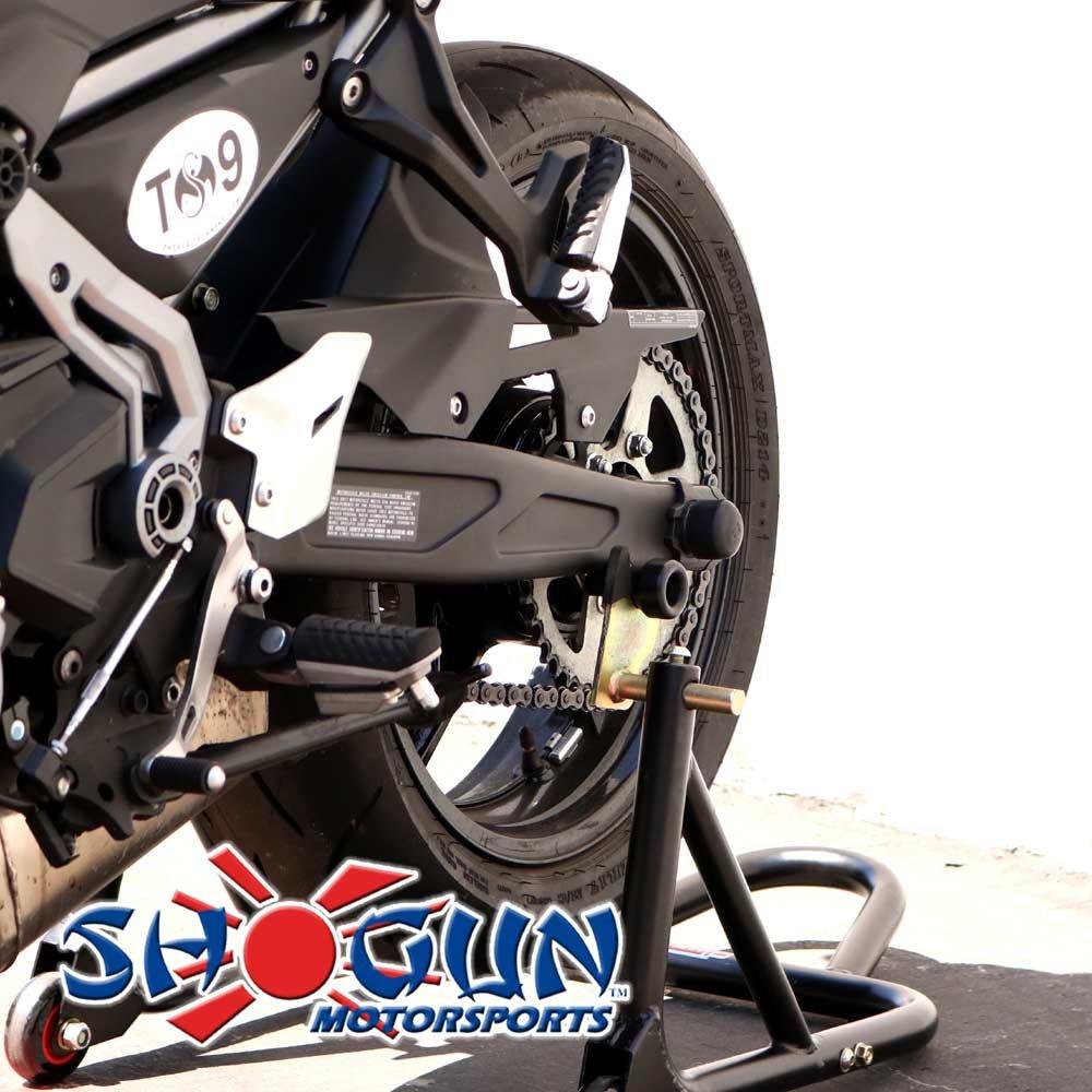 MADE IN THE USA Sliders 701-0749 Black 2017-2019 Kawasaki Ninja 650 2017-2018 Z650 Swingarm Spools