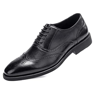 official shop shades of kid Amazon.com | Men's Black Dress Shoes Formal Lace Up Wingtip ...