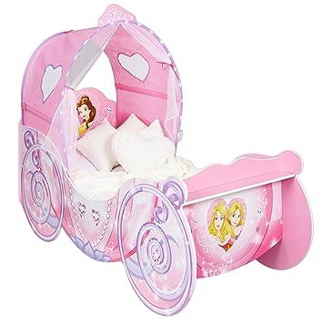 GroBartig Kleinkinderbett Für Mädchen Im Kutschendesign Von Disney Prinzessin, Mit  Beleuchtetem Baldachin