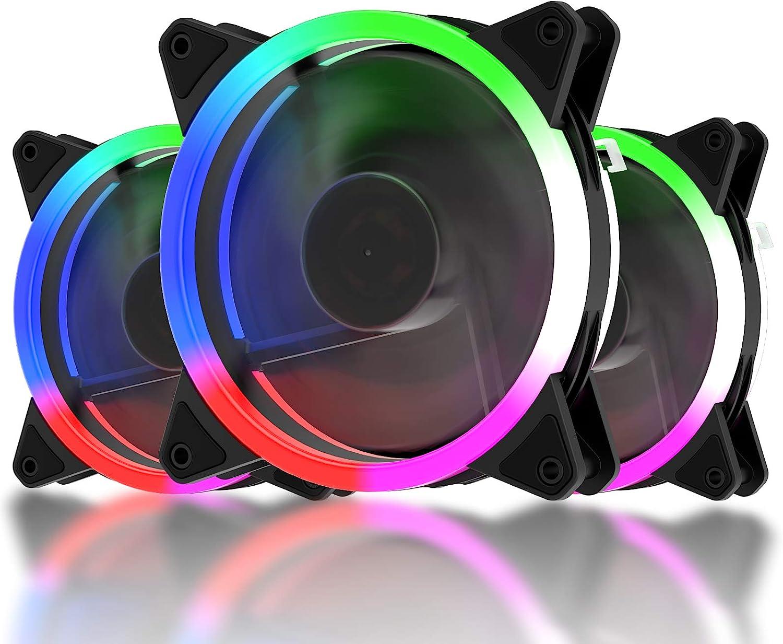 upHere Alto Rendemento LED Colorido Ventilador de PC 120mm ...