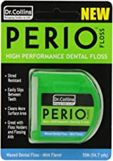 Dr. Collins Perio Floss, Mint Waxed, 50 meter Package