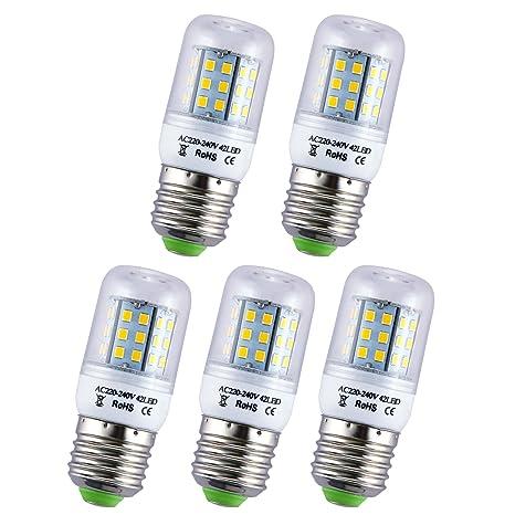 Liqoo® 5 unidades 3W 4W E27 Lámpara LED bombillas bombilla de la lámpara ahorro de ...