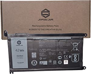 JIAZIJIA WDX0R Laptop Battery Replacement for Dell Inspiron 3583 3793 5567 5570 5575 5770 5775 7378 7460 7560 7570 7580 Latitude 3500 Vostro 5468 5568 5471 Series T2JX4 0FW8KR FW8KR 0NHRT 11.4V 42Wh