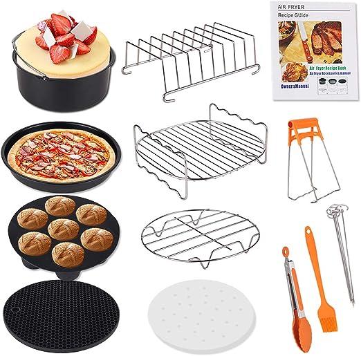 Deep Fryers Air Accessories Cake Baking Pan Grill Pot Pad Rack Silicone Mat 8pcs