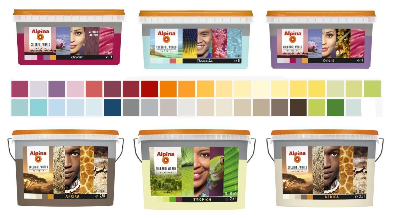 Alpina Colorful World 2,5 L. bunte Wandfarbe, Authentic Africa Matt, Beige, Creme Alpina Farben GmbH