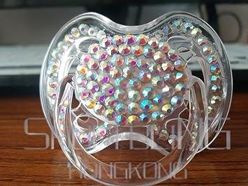 Amazon.com: AB vidrio colorido chupete maternidad bebé niño ...