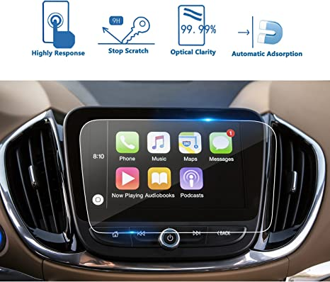 9H LFOTPP 2016-2018 Chevrolet Cruze 7 Inch MyLink Car Navigation Screen Protector Glass, Clear Tempered Glass Center Touch Screen Protector Against Scratch High Clarity