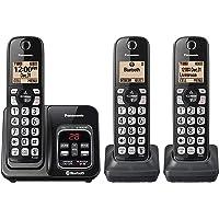 Panasonic KX-TG833SKLink2Cell - Auricular inalámbrico con Bluetooth y Lector de Llamadas (Incluye 3 teléfonos)