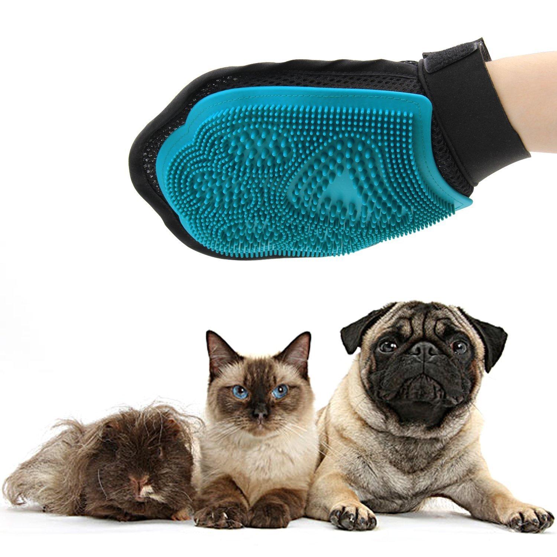 Ploopy Guante para Cepillar Perros y Gatos, Perro Guantes De Masaje para Mascotas, Guante Mascotas, Guante Perro,Manopla Gato,Guante Masaje, Manopla para ...